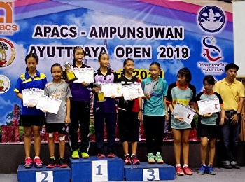 THE FIRST RUNNER-UP : APACS AMPUNSUWAN AYUTTHAYA OPEN 2019