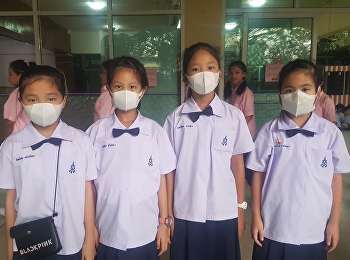 Students and personnel with PM2.5 air pollution situation