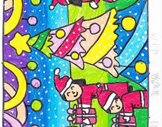 ผลงานศิลปะนักเรียนงานคริสต์มาส